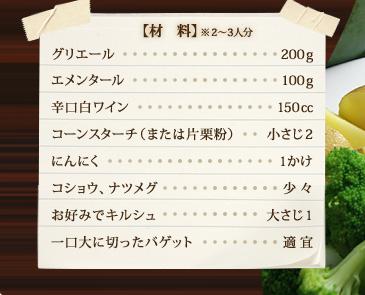材料(2~3人分)